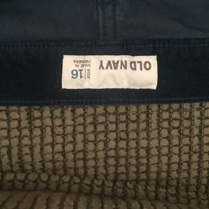Old navy corduroy pants navy color size 16